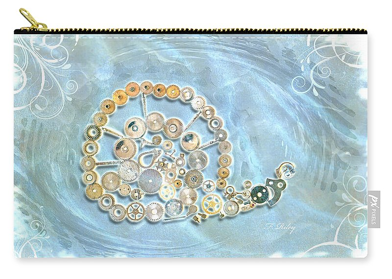 Snail Carry-all Pouch featuring the photograph Mechanical - Snail by Fran Riley