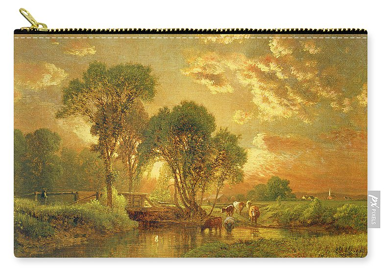 Inness Carry-all Pouch featuring the painting Medfield Massachusetts by Inness
