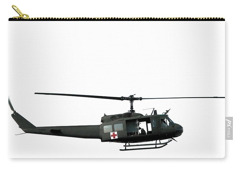 Uh-1 Carry-all Pouch featuring the photograph Medic Helicopter by Olivier Le Queinec