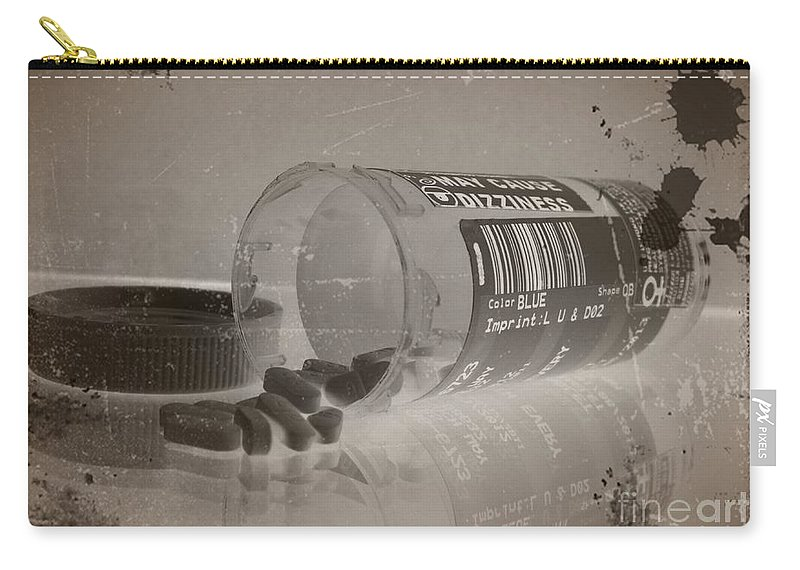 Medication 1 Carry-all Pouch featuring the mixed media Medication 1 by Chalet Roome-Rigdon
