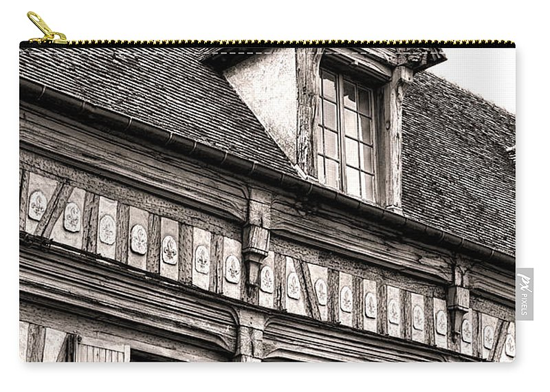 France Carry-all Pouch featuring the photograph Medieval House by Olivier Le Queinec
