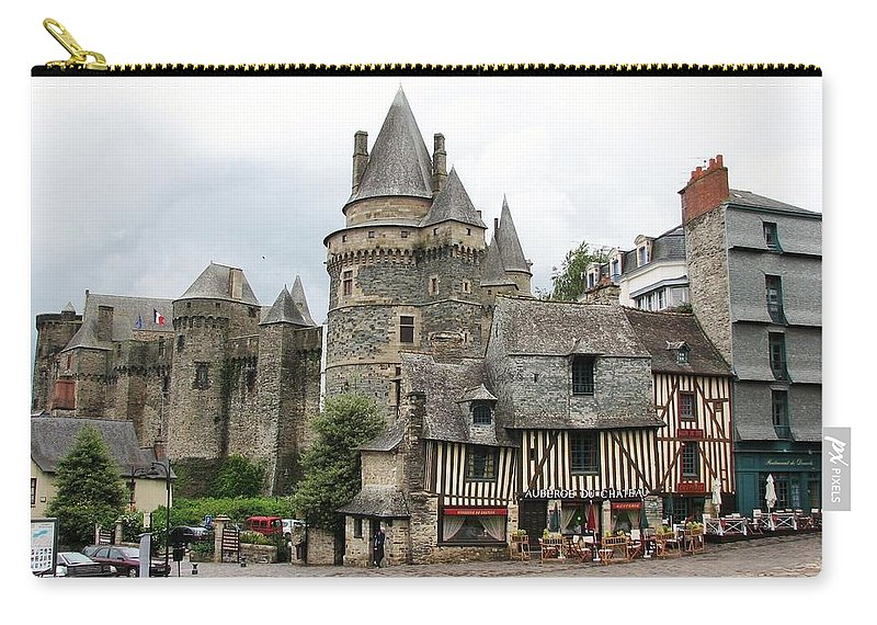 Castle Carry-all Pouch featuring the photograph Medieval Memories by Mary Ellen Mueller Legault