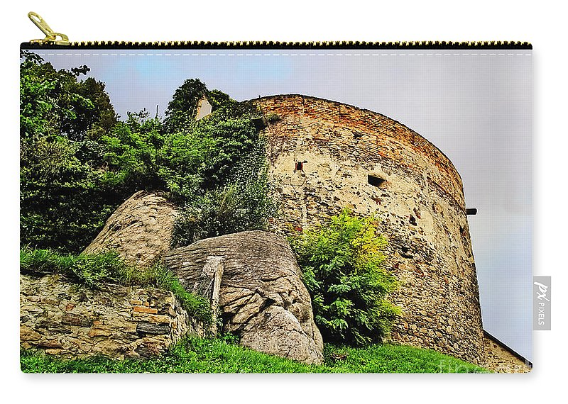 Travel Carry-all Pouch featuring the photograph Medieval Tower by Elvis Vaughn