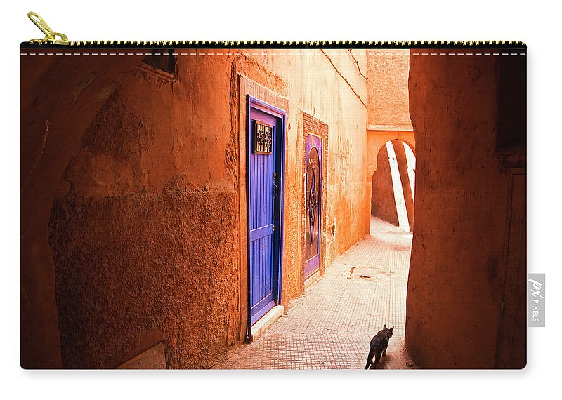 Arch Carry-all Pouch featuring the photograph Medina Of Marrakesh by Moreiso