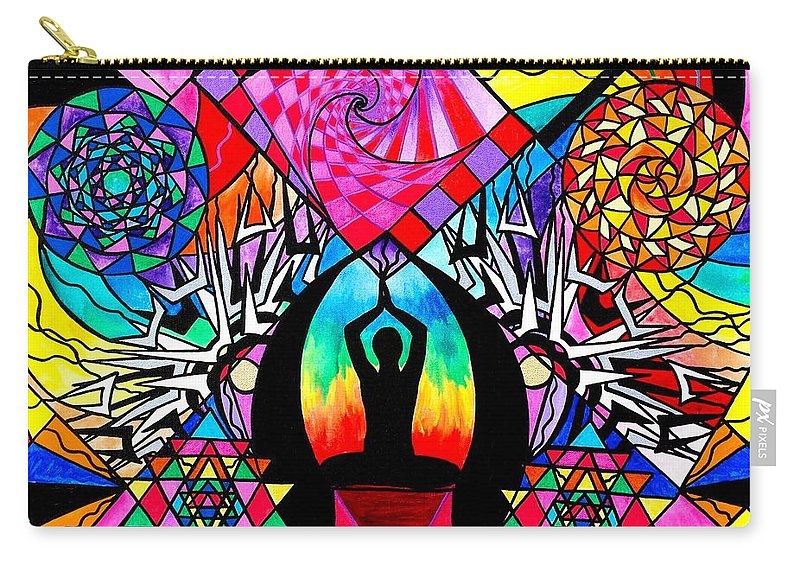 Vibration Carry-all Pouch featuring the painting Meditation Aid by Teal Eye Print Store