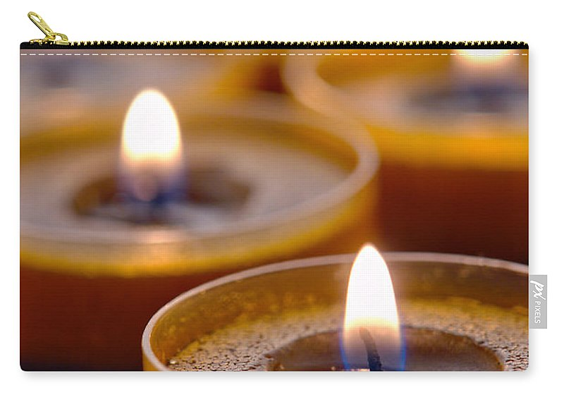 Candle Carry-all Pouch featuring the photograph Meditation Candles Path by Olivier Le Queinec