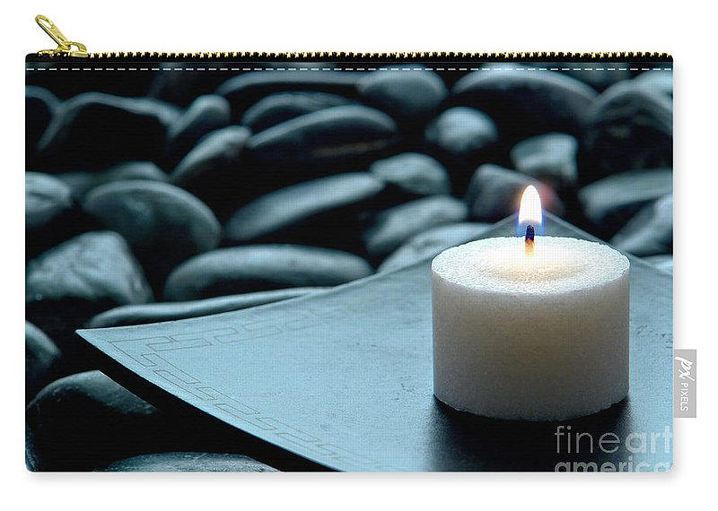 Candle Carry-all Pouch featuring the photograph Meditation by Olivier Le Queinec
