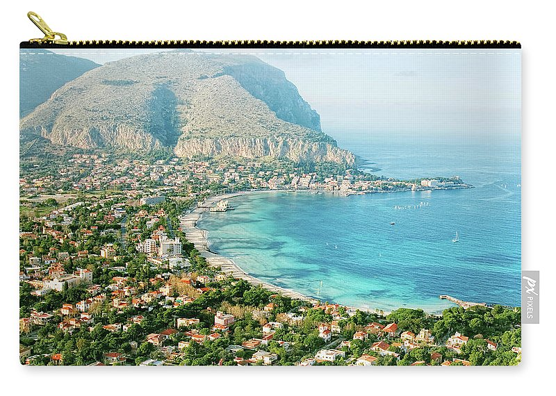 Sicily Carry-all Pouch featuring the photograph Mediterranean View by Peeterv