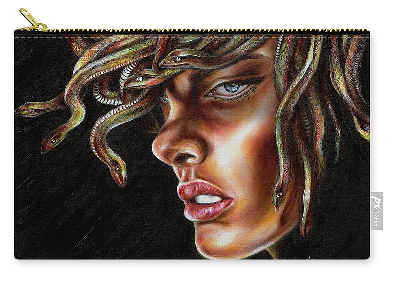 Medusa Carry-all Pouch featuring the painting Medusa No. One by Hiroko Sakai