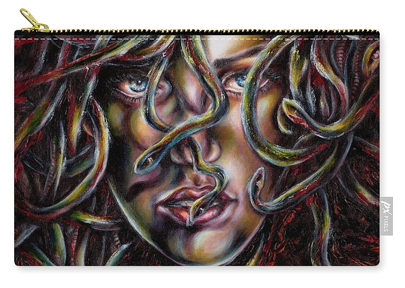 Medusa Carry-all Pouch featuring the painting Medusa No. Three by Hiroko Sakai