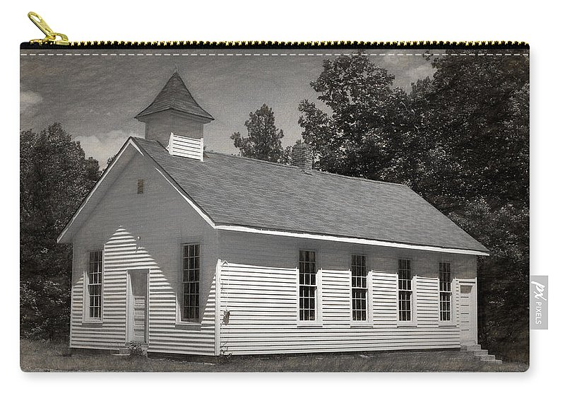 Abandoned Carry-all Pouch featuring the photograph Meeting House by Richard Rizzo