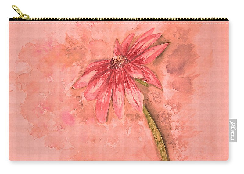 Watercolor Carry-all Pouch featuring the painting Melancholoy by Crystal Hubbard