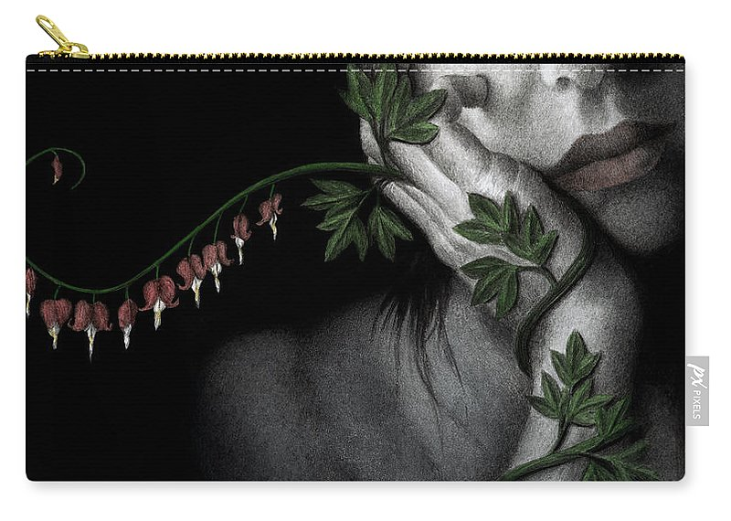 Woman Carry-all Pouch featuring the painting Melancholy by Pat Erickson