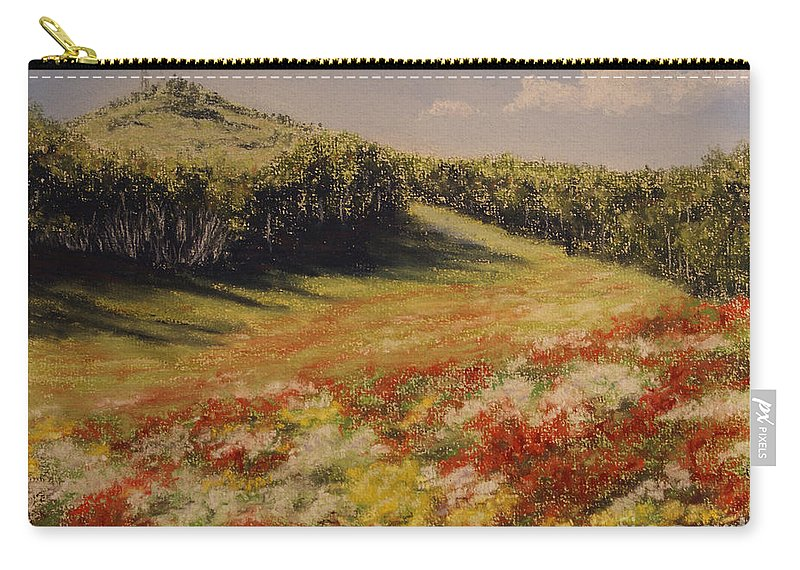 Summer Landscape Carry-all Pouch featuring the pastel Melkow Trail by Stanza Widen