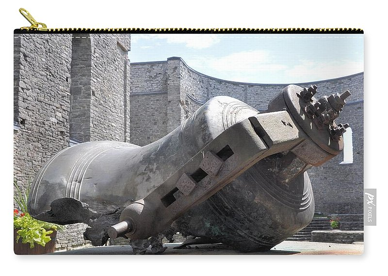 Ruins Carry-all Pouch featuring the photograph Melted Bell by Valerie Kirkwood