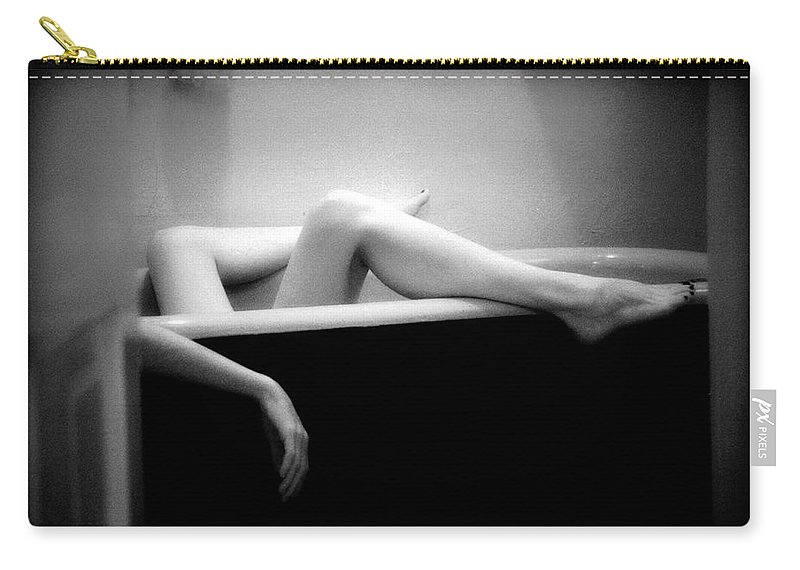 Female Nude Carry-all Pouch featuring the photograph Melting by Lindsay Garrett