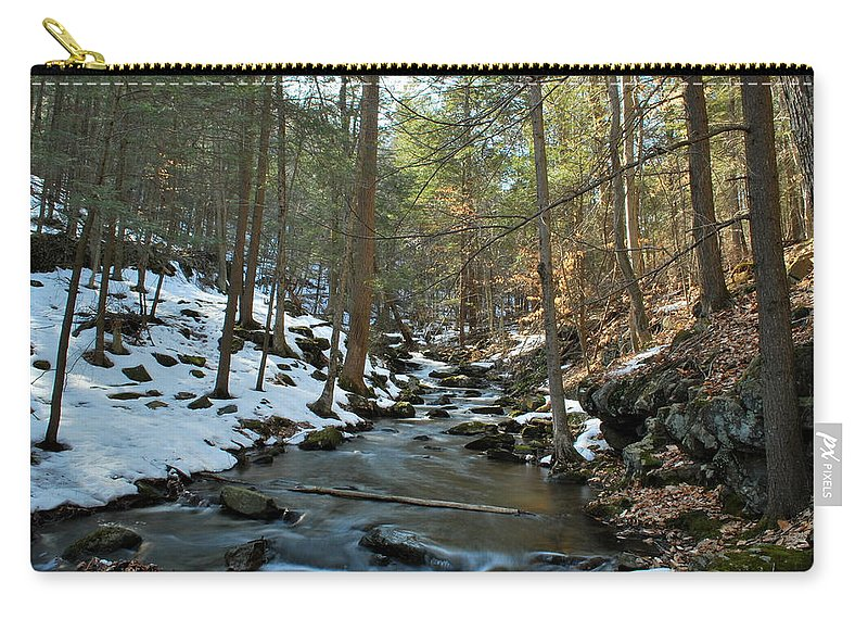 Nature Carry-all Pouch featuring the photograph Melting Snow by Kurt Von Dietsch
