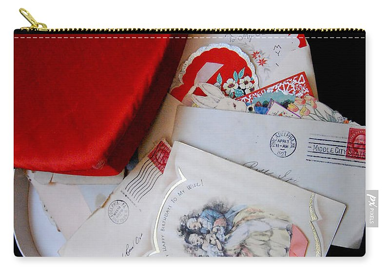 Memories Carry-all Pouch featuring the photograph Memories From A Box by Richard Ortolano