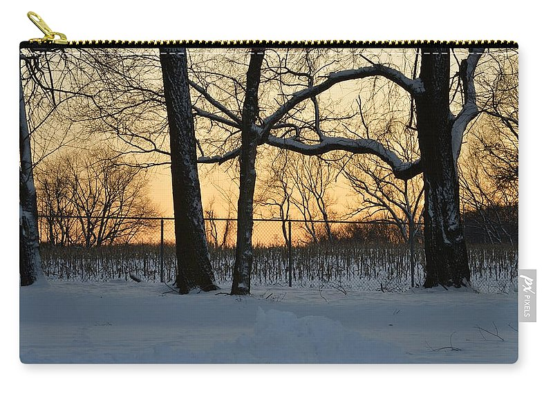 Winter Painting Carry-all Pouch featuring the photograph Memories Of Winter by Sonali Gangane