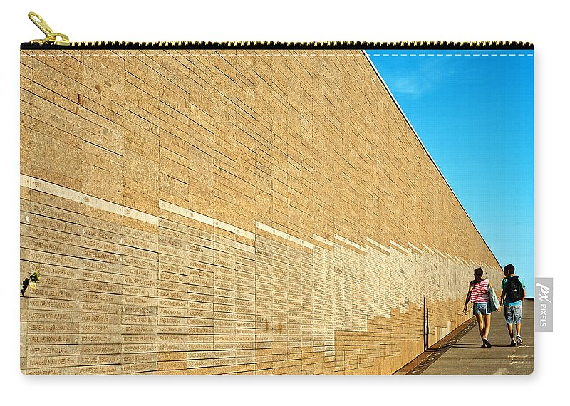 Buenos Carry-all Pouch featuring the photograph Memory Park by Jess Kraft