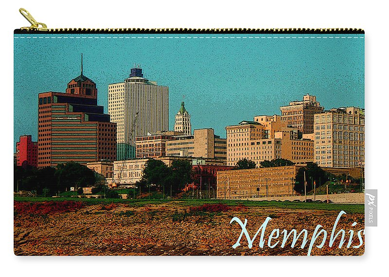 Memphis Carry-all Pouch featuring the photograph Memphis by Karen Beasley