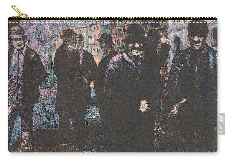 Men Carry-all Pouch featuring the mixed media Men by Kendall Kessler