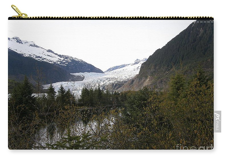Mendenhall Carry-all Pouch featuring the photograph Mendenhall Glacier by Bev Conover