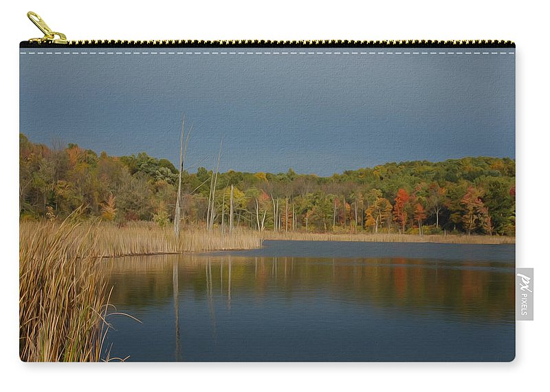 Fall Carry-all Pouch featuring the photograph Mendon Ponds by Tracy Winter