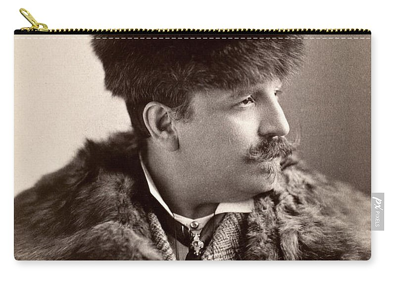 1890 Carry-all Pouch featuring the photograph Men's Fashion, 1890s by Granger