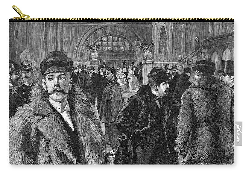 1893 Carry-all Pouch featuring the painting Men's Fashion, 1893 by Granger