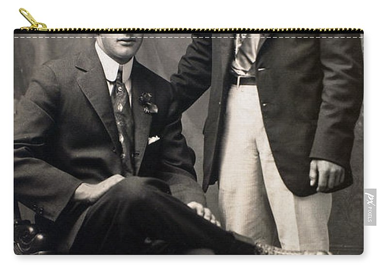 1917 Carry-all Pouch featuring the photograph Men's Fashion, 1917 by Granger