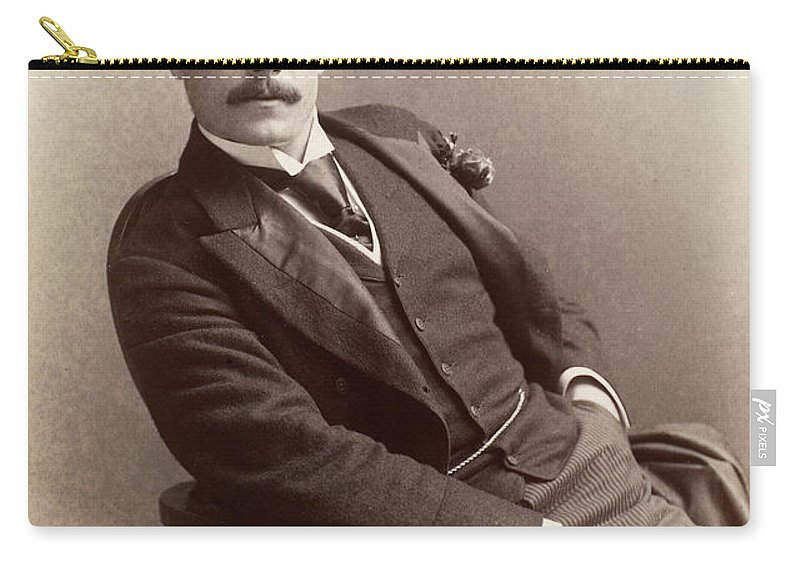 1880 Carry-all Pouch featuring the photograph Men's Fashion, C1885 by Granger
