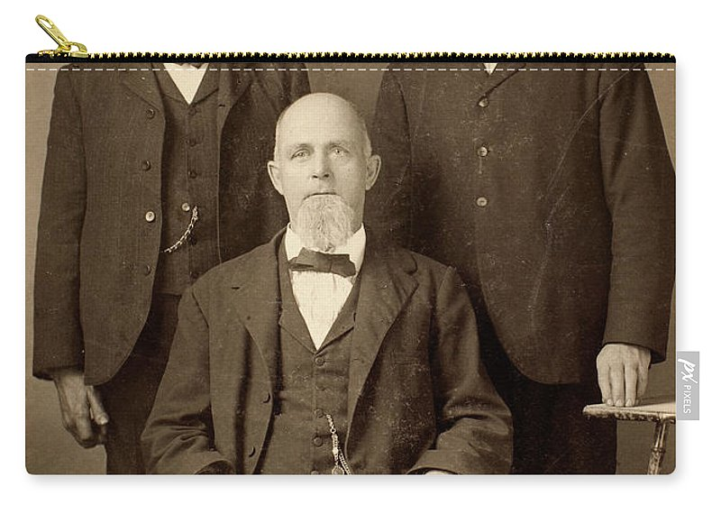 1895 Carry-all Pouch featuring the photograph Men's Fashion, C1895 by Granger