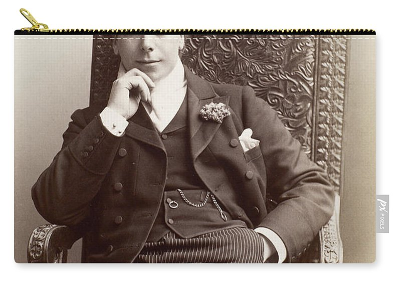 1898 Carry-all Pouch featuring the photograph Men's Fashion, C1898 by Granger