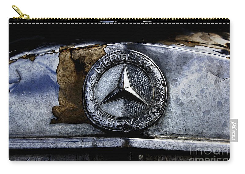 Mercedes Carry-all Pouch featuring the photograph Mercedes Benz Shabby Chic by Nola Lee Kelsey