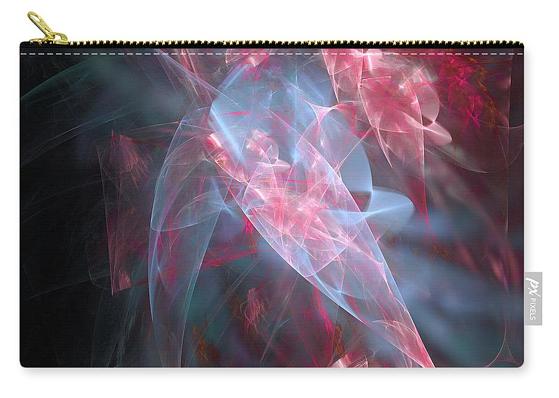 Abstract Carry-all Pouch featuring the digital art Mercy And Truth Have Met Together Righteousness And Peace Have Kissed by Margie Chapman