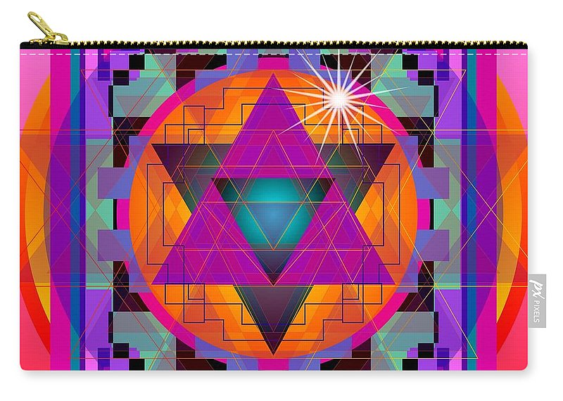 Digital Carry-all Pouch featuring the digital art Merkaba 2013 by Kathryn Strick