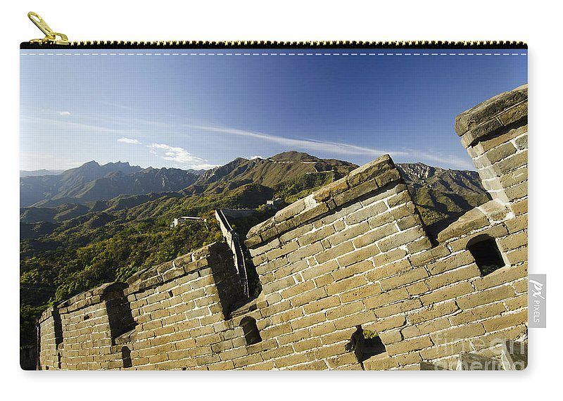 China Landscape Carry-all Pouch featuring the photograph Merlon View At The Great Wall 1046 by Terri Winkler