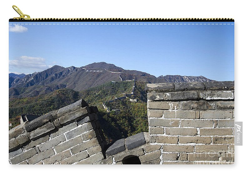 China Landscape Carry-all Pouch featuring the photograph Merlon View From The Great Wall 726 by Terri Winkler