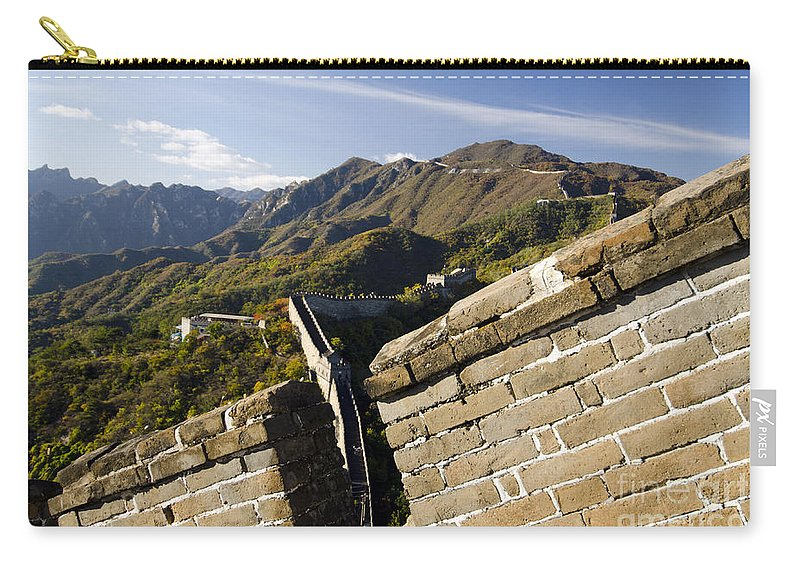 China Landscape Carry-all Pouch featuring the photograph Merlon View Of The Great Wall 1037 by Terri Winkler