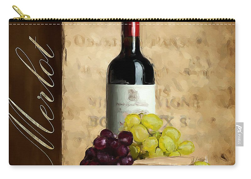 Wine Carry-all Pouch featuring the painting Merlot IIi by Lourry Legarde