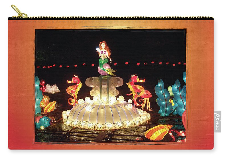 Chinese Lantern Festival Carry-all Pouch featuring the photograph Mermaid by Cheryl McClure