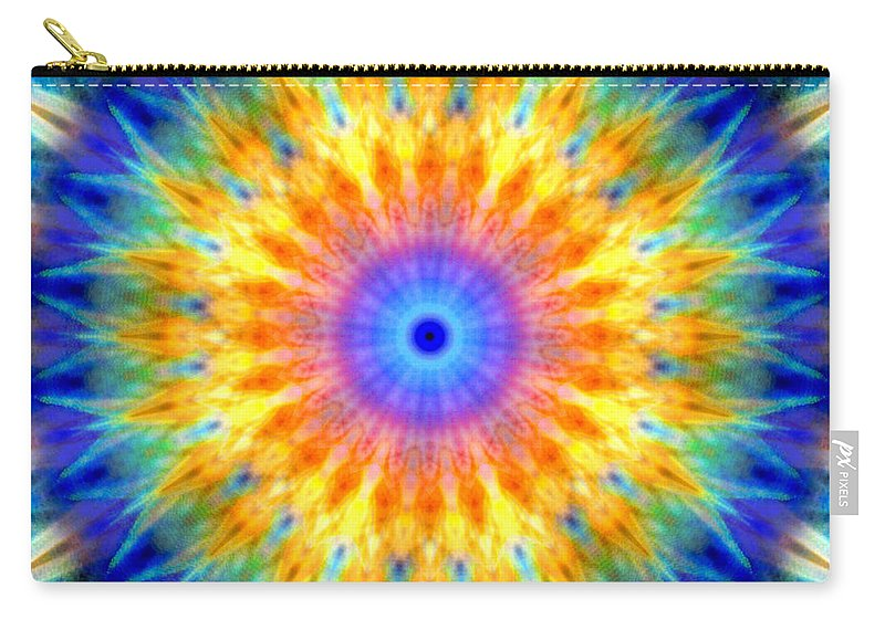 Rainbow Carry-all Pouch featuring the photograph Mermaid Mandala by Susan Bloom