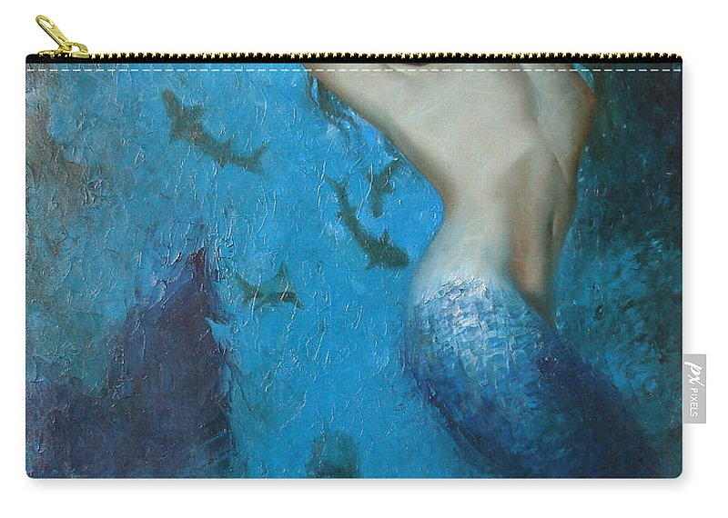 Ignatenko Carry-all Pouch featuring the painting Mermaid by Sergey Ignatenko