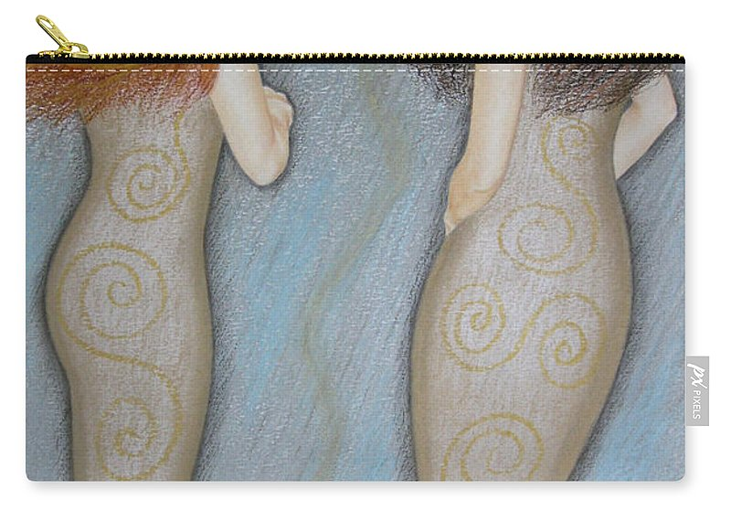 Mermaid Carry-all Pouch featuring the painting Mermaids by Lynet McDonald