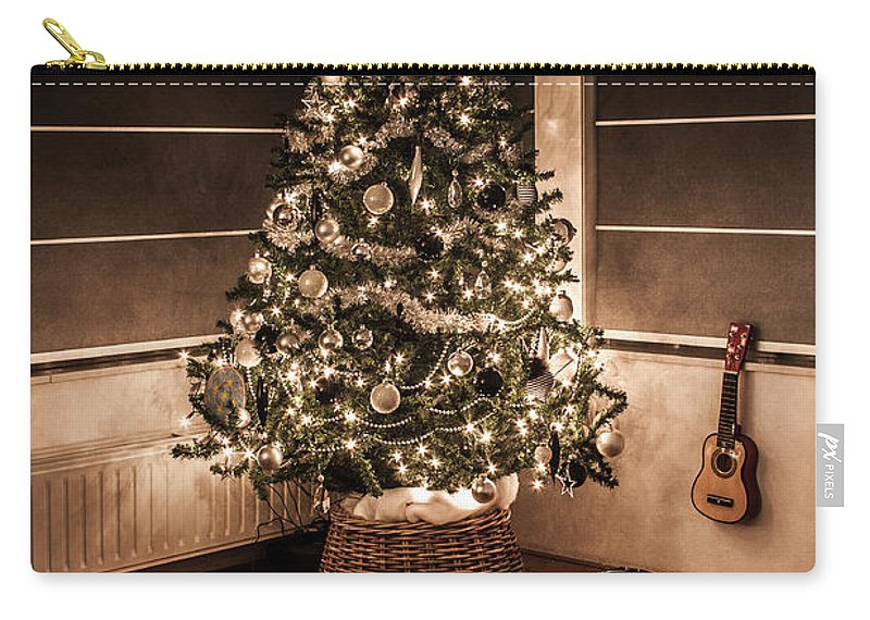 Apartment Carry-all Pouch featuring the photograph Merry Christmas by Semmick Photo