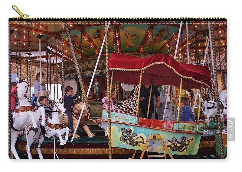 Amusement Carry-all Pouch featuring the photograph Merry Go Round by Dany Lison
