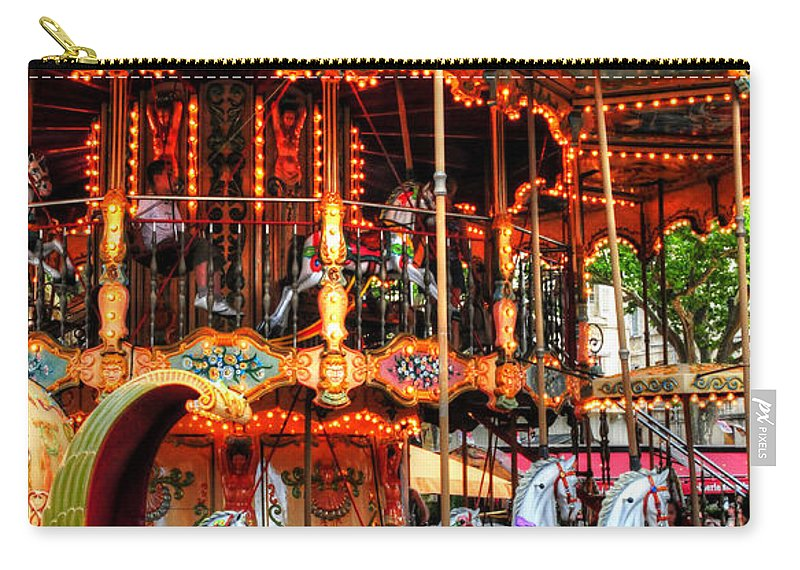 Merry Go Round Carry-all Pouch featuring the photograph Merry Go Round by Dave Mills