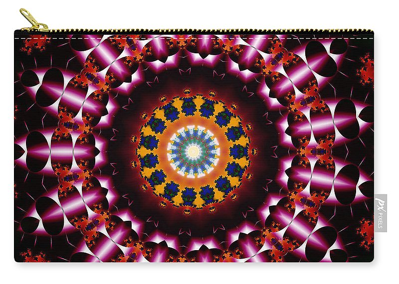Fractal Art Carry-all Pouch featuring the digital art Merry Go Round Fractal by Mario Carini