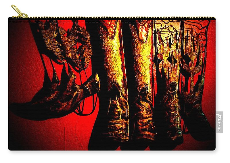 Christmas Carry-all Pouch featuring the photograph Merry Texmas by Chris Berry